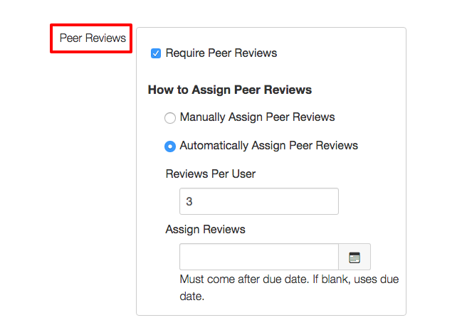 peer reviews option in discussions highlighted and made mandatory