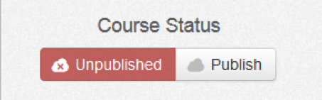Wileyplus unpublished course status button