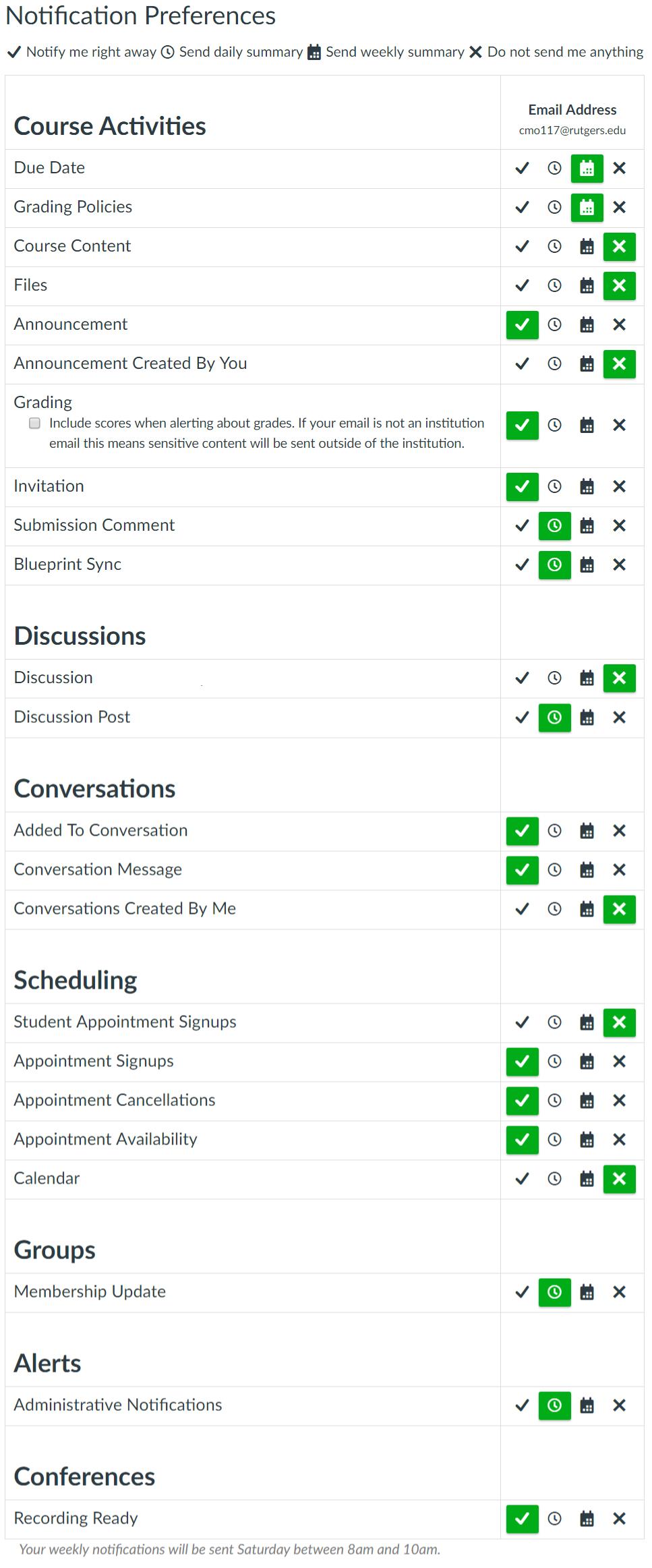 canvas notification preferences menu