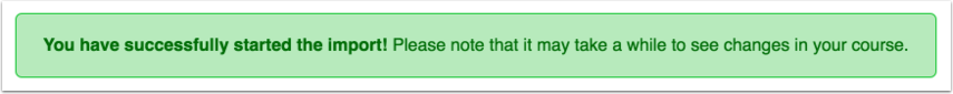 successful import notification