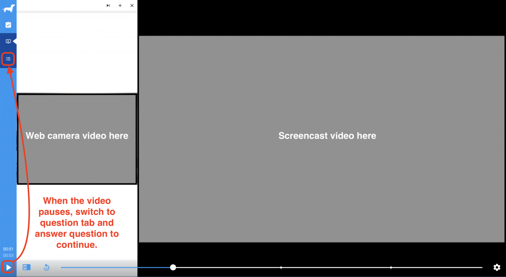video is paused. switch to question tab