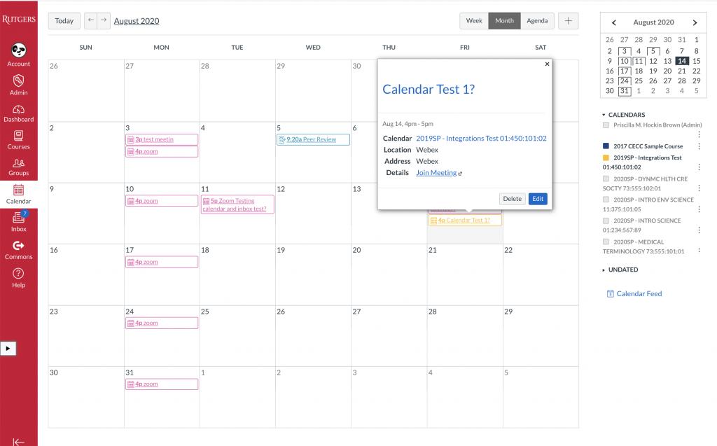Recently schedule meeting is now on calendar.