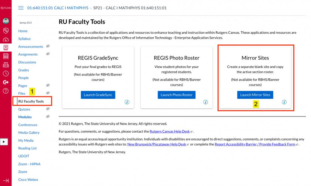 ru faculty tool landing page