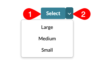 Select size menu expanded to show 3 sizes